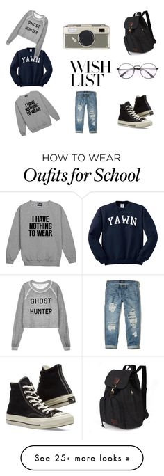 """""""Wishlist: All I Want For Christmas"""" by oldschoolarts on Polyvore featuring Wildfox, Hollister Co., Converse, Kate Spade, simple, contestentry and polyPresents"""