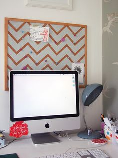 This Chevron cork board would look amazing in my #Scentsy #Office www.wicklessonthego.scentsy.us