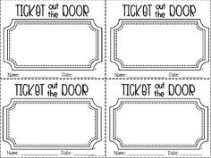 Ticket out the door/Exit Slips School Classroom, School Fun, Classroom Ideas, Classroom Door, Science Classroom, Classroom Setting, School Stuff, School Ideas, First Grade Science
