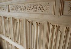 Linenfold oak wall panelling
