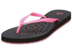 Showaflops Pink Lips Shower Sandal     Womens 4001W Black  Slippers SZ-5/6