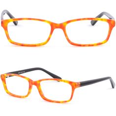 Light Plastic Acetate Frame Women Girl Frame Prescription Eyeglasses Lens Orange #Unbranded