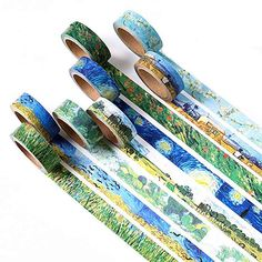 Cheap masking tape decoration, Buy Quality adhesive tape scrapbooking directly from China tape scrapbook Suppliers: 1 pcs Washi Tapes DIY Van Gogh Painting paper Masking tape Decorative Adhesive Tapes Scrapbooking Stickers Size 15 Masking Tape Art, Washi Tape Diy, Paper Tape, Diy Paper, Washi Tapes, Scrapbooking Journal, Scrapbooking Stickers, Diy Scrapbook, Diy Japonais