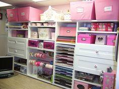 pink scrapbook room