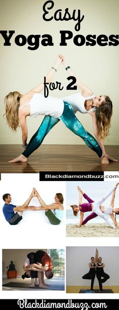 Easy Yoga Poses For Two People- Challenge Partner, Friends, and Lovers. #yoga #fitness #health #yogapose