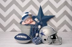 Future Dallas Cowboys Fan!!! Caralee Case Photography. Newborn Infant Baby Photographer. | FollowPics