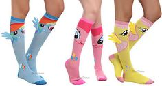 My Little Pony Winged Knee High Socks Rainbow Dash Fluttershy  Pinkie Pie Crew