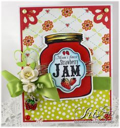 Whimsy Rubber Stamps: Touch of Sweetness Notables Set & From the Kitchen Notables 5 set    Whimsy Shapeology Dies: Mason Jar, Notables 5, Corner dies