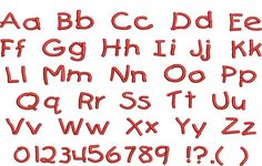 Childs Handwriting Embroidery Font