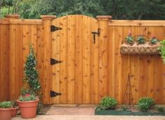 Wood Fence Idea. With a gate. Private and simple