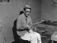 Cruz Beain, basket weaver makes Jai alai equipment - Tampa, Florida