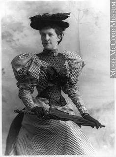 1894 photo of the fashionable Mrs. Evans, Montreal, Quebec, Canada