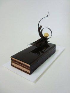 Entremet?  Poetry in chocolate is being repinned a lot ! People do have good taste.