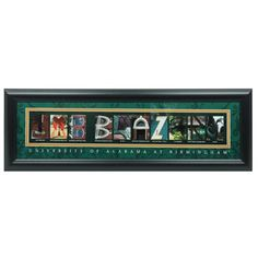 Prints Charming Letter Art Framed Print, U of Alabama Birmingham-UAB Blazers, Bold Color Border Photographs And Memories, Photographs Of People, Photograph Lyrics, Framed Art, Framed Prints, University Of Alabama, Female Photographers, Letter Art, Bold Colors