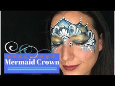 Mermaid Crown Face Paint Tutorial - YouTube