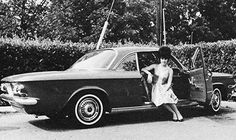 Priscilla posing with her brand new 1963 red Corvair; a graduation present from who else? Elvis Presley! May 29, 1963