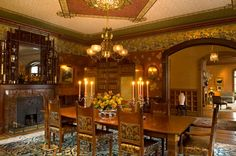 Dining Room in a mansion built in 1872.