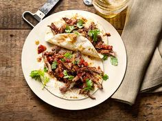 Braised Lamb Tacos Recipe : Michael Symon : Food Network - FoodNetwork.com