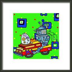 Hybrid Robot Car Framed Print By Lynnda Rakos