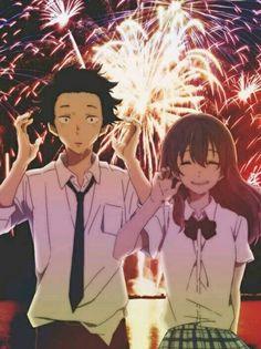 A Silent Voice - Shoya Ishida & Shoko Nishimiya Anime Love, Kyoani Anime, Film Anime, Anime Demon, Otaku Anime, Koe No Katachi Anime, A Silence Voice, A Silent Voice Anime, Humour Geek