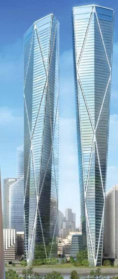 Hermitage Plaza Towers, La Defence, Paris by Norman Foster Architects :: 86 floors, height 320m