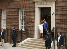The new Royal met her big brother just a couple of hours before she was taken out onto the steps of the Lindo Wing, as he was two years ago