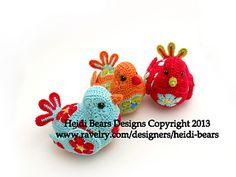 Bluebird of Happiness African Flower Crochet Pattern by Heidi Bears