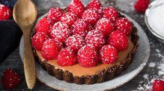 Terte med sjokolademousse og bringebær – Ida Gran-Jansen