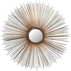 Safavieh Home Collection Sunburst Mirror, Copper