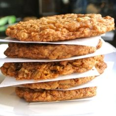 Oatmeal Cookies #gluten free   I made these with half of the white sugar the second time around and couldn't tell the difference. I might cut back on the brown sugar a bit next time too.