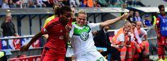 VFL Wolfsburg verliert Frauen Ch.L.-Finale 3:4 n.E. gegen O.Lyon - Zweikampf in Reggio Emilia