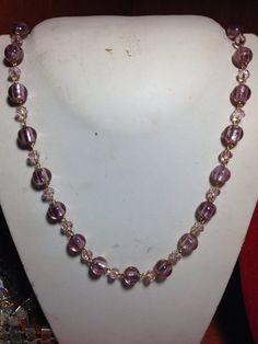 #collana con #pietre e #cristalli rosa. Completo con #bracciale e #orecchini. Info@oro18.eu #oro18 #bigiotteria #bijoux #jewelry Su www.oro18.eu