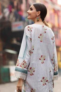 Salwar Kameez & salwar suit by Pakistani designers. Stitched original designer dresses from Pakistan. Pakistani Fancy Dresses, Pakistani Dresses Online, Pakistani Outfits, Kurti Styles, Pakistani Designers, Dress Brands, Designer Dresses, Lawn, Floral Tops