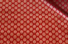 Red brocade  #brocade #fabrics #india #textile #prints #patterns #blouse #saree