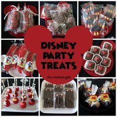 The Partiologist: Disney Party Treats! Adult Disney Party, Disney Party Foods, Disney Themed Food, Disney Inspired Food, Disney Desserts, Adult Birthday Party, Disney Birthday, Sleepover Party, Disney Recipes
