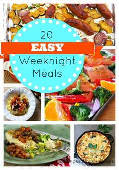 20 Easy Weeknight Meals and a GIVEAWAY! - The Sprouting Seed #realfood #easy #weeknightmeals