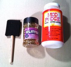 HOW TO: Add Glitter To Anything Without It Falling Off! Finally, a cure to the most contagious of crafts.