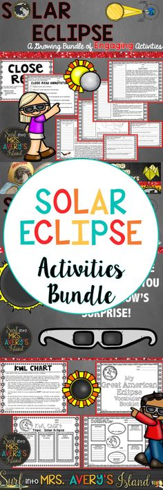 This bundle of Solar Eclipse activities is perfect for teaching students about the 2017 Solar Eclipse. Keep your students engaged with many low prep/no prep lessons that cross the curriculum in all subjects! Click this link to discover the SUNsational ideas and creative activities the packet has to offer to complete your science lessons.