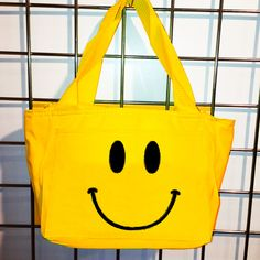 Smile Insulated Lunch Bag (Yellow) - LikeWear