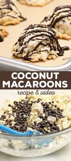 Crispy outside, soft and chewy inside, these coconut macaroons are only as sweet as you want them to be. Whether you think you love coconut or not, you'll love these cookies! (Gluten Free Recipes For Dessert) Best Gluten Free Recipes, Gluten Free Sweets, Gf Recipes, Gluten Free Cookies, Gluten Free Baking, Celiac Recipes, Cookies Vegan, Baking Cookies, Cookie Recipes