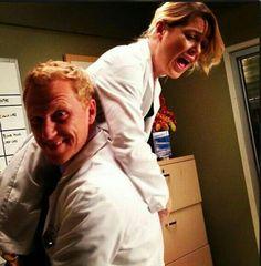 Owen Hunt & Meredith Grey