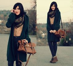 Forest Green (by Bonnie Barton) http://lookbook.nu/look/2798797-Thrifted-Vintage-Forest-Green