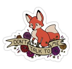 Rude Foxes by eglads | Redbubble - This is a whole series of adorably rude foxes in sticker form! I want to collect them all...