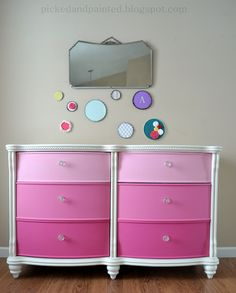 My newest client contacted me about painting a dresser for her daughter Abby. She saw the pink ombre  dresser I did for my daughter and wa...