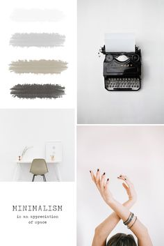 Are you a blogger in love with the minimalist, aesthetic design? Find inspiration for your brand in this simple, minimal mood board and neutral color palette. Click here to see more related design inspiration for your blog and your social media branding.