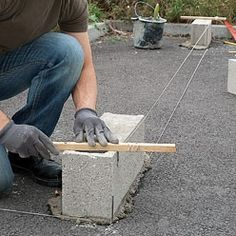 Gardens Discover Concrete Block Walls Concrete Slab How To Lay Concrete Laying Concrete Rammed Earth Homes Brick Laying Diy Home Repair Construction Tools Concrete Projects Building Foundation, House Foundation, Framing Construction, Construction Tools, Concrete Block Walls, Concrete Slab, How To Lay Concrete, Laying Concrete, Building A Brick Wall