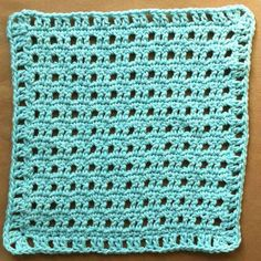 Best Free Crochet » #55 Blue Rattan Crochet Dishcloth