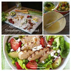 Grilled Chicken-and-Strawberry Cobb Salad Yummy Eats, Grilled Chicken, Cobb Salad, Grilling, Strawberry, Healthy, Recipes, Free, Recipe