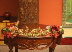和の花の装花 アマリリス 目黒雅叙園様の装花