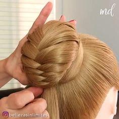 Hairdo For Long Hair, Long Hair Video, Bun Hairstyles For Long Hair, Wedding Hairstyles, Front Hair Styles, Medium Hair Styles, Curly Hair Styles, Pretty Braided Hairstyles, Beautiful Hairstyles